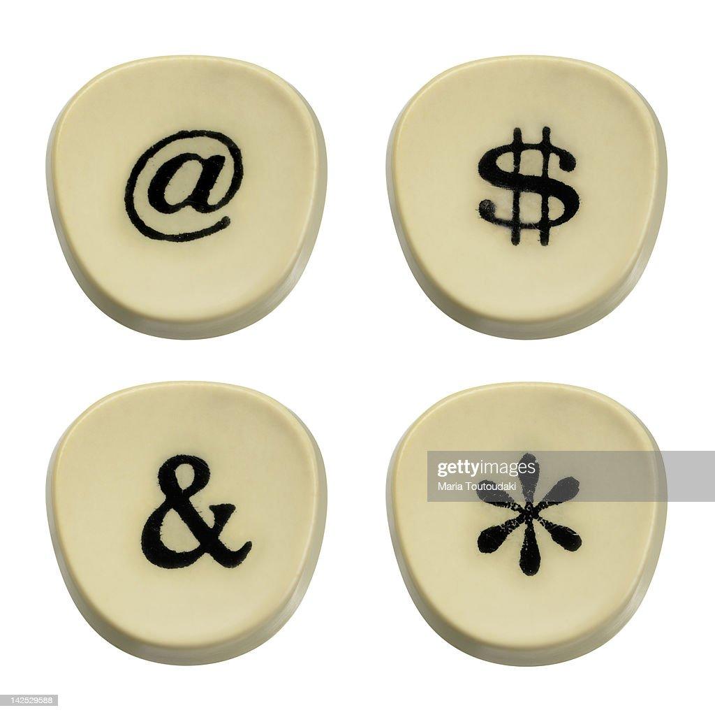 Typewriter keys : Stock Photo