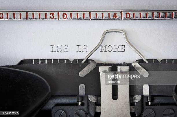 Typewriter - Less is more