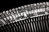 Typewriter letter typebar