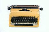 Typewriter on a white background