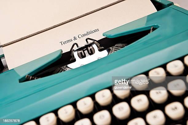 Machine à écrire & Conditions générales