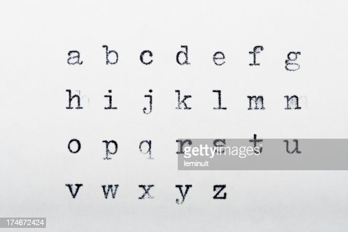 Typewritten alphabet