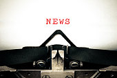Typewriter written message with the word news