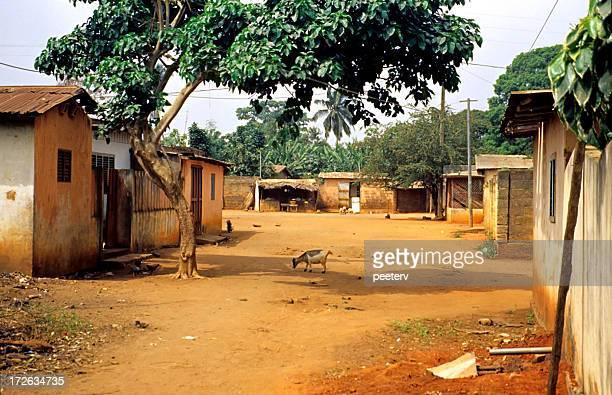 Rue typique d'Afrique