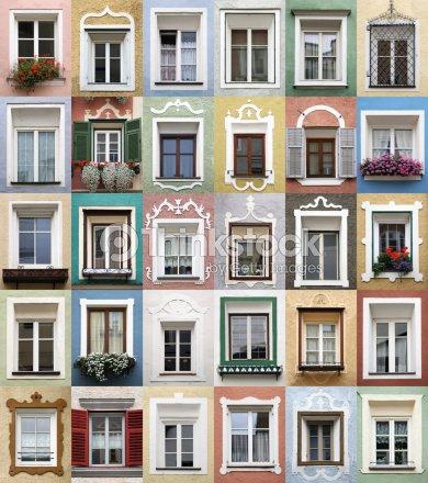 Tipico alpine finestre incorniciano decoratexxxl foto stock thinkstock - Finestre apertura esterna ...