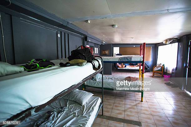 A typical basic dorm room in Nadi, Fiji.