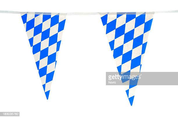 typical bavarian wreath for Oktoberfest in blue white
