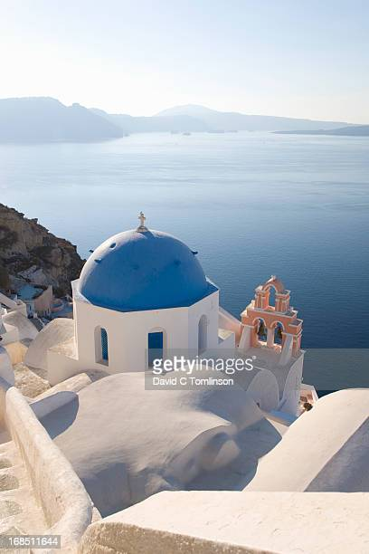Typical blue-domed church, Oia, Santorini, Greece