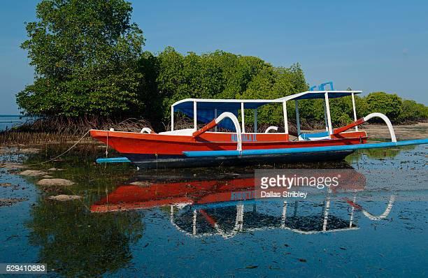 Typical boat of Nusa Lembongan, Bali