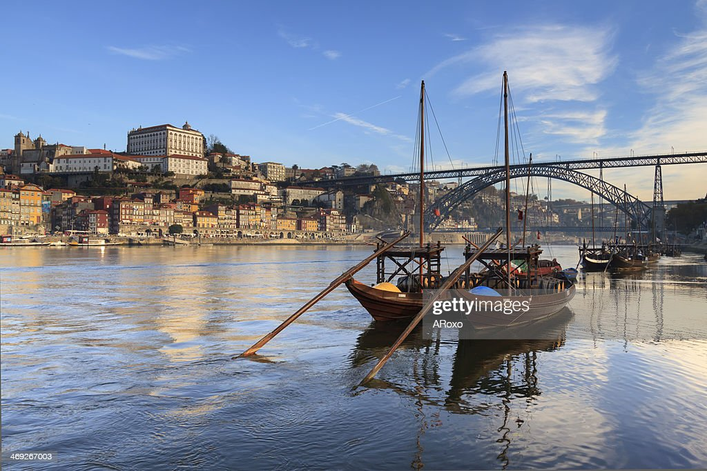 Typical boats of the Douro River in Oporto