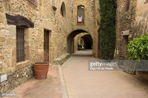 Typical building of Monells- Bajo Ampurdán- Catalonia- Spain