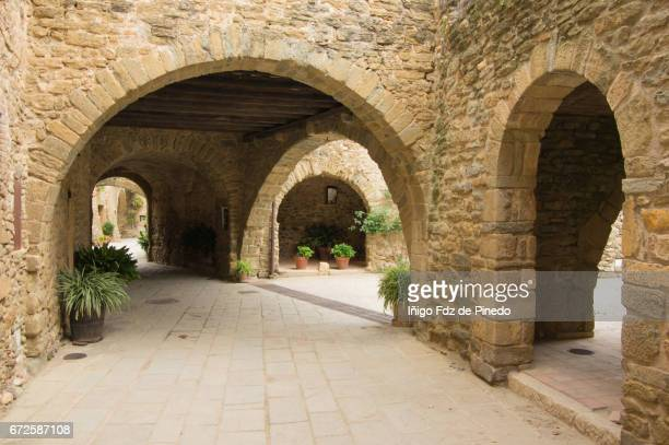 Typical buildings of Monells- Bajo Ampurdán- Catalonia- Spain