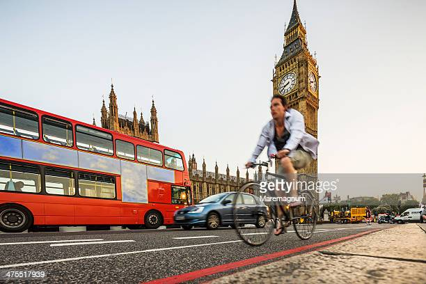 Typical bus near the Big Ben