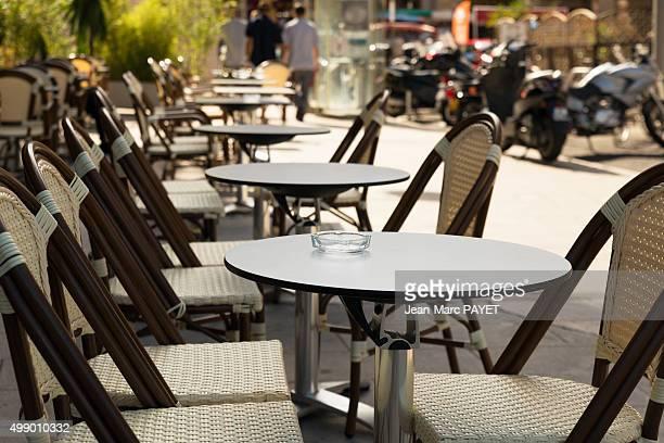 Typical café terrace, France