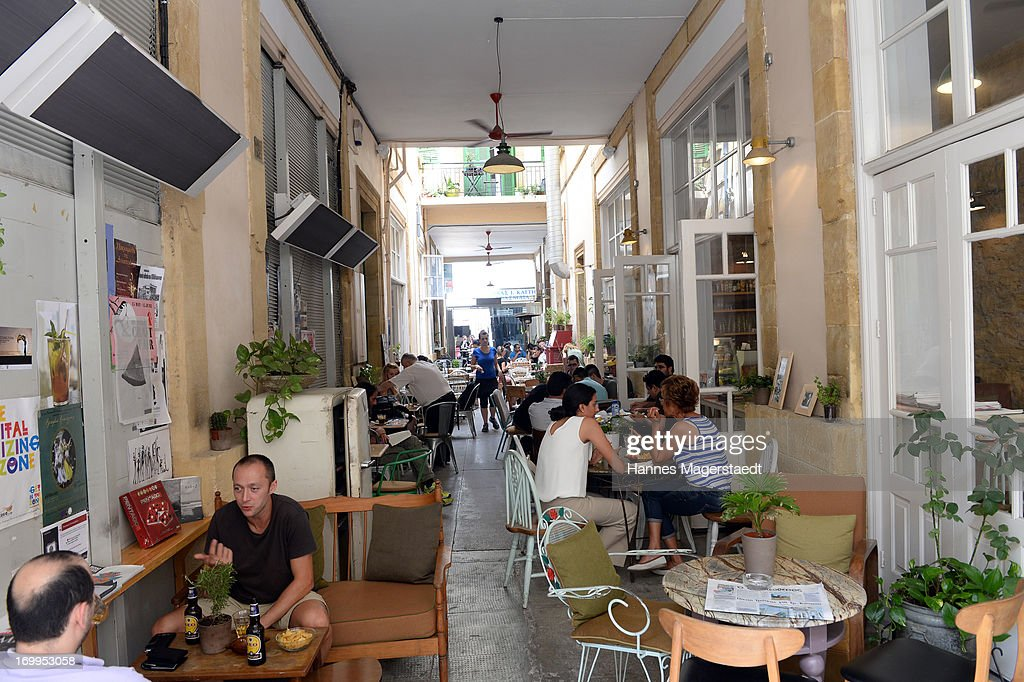 A typical Cafe in Nicosia on May 25 2013 in Nicosia Cyprus