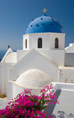 Typical church, Imerovigli, Santorini, Greece