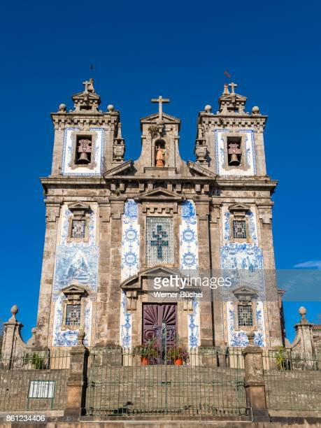 Typical church in the city of Porto also called Oporto in Portugal