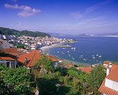 Typical coastline near Sanxenxo, Galicia, Spain, Europe