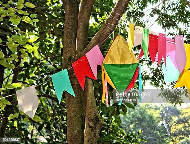 Typical decoration for Fest Junina in Brazil