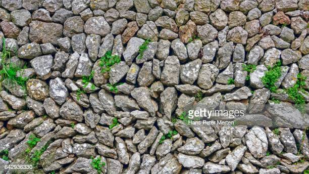 typical dry stone wall, Majorca, Balearic Islands, Spain