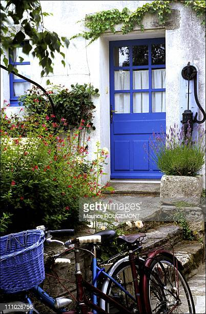 Typical entry to a traditional house in Noirmoutier Island in Ile de Noirmoutier France on October 17th 2005