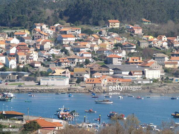 Typical fishing village of Galicia, Spain
