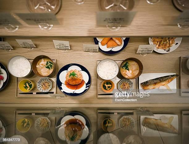 Typical food display at restaurant in Osaka, Japan