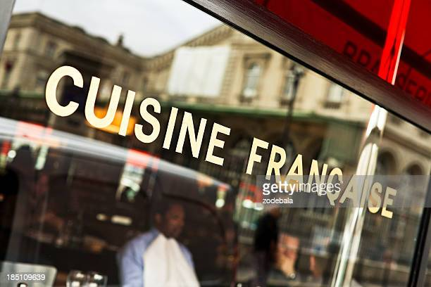 Typical French Cafè in Paris, Franch Food