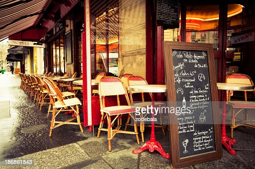 Typical French Cafè in Paris
