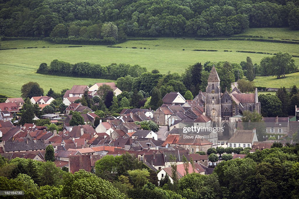A typical French rural community : Stock Photo