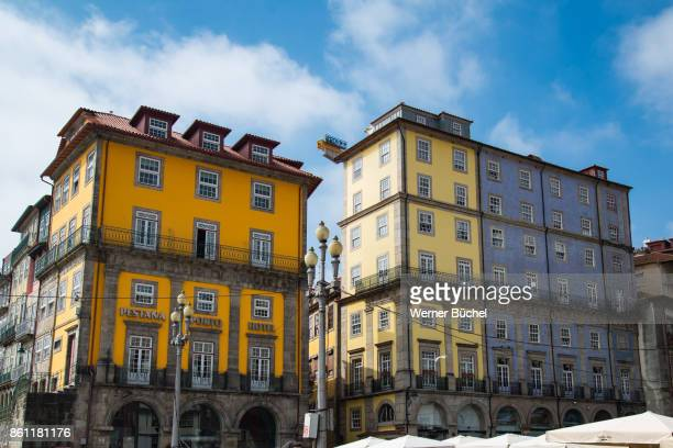 Typical houses in the city of Porto also called Oporto in Portugal