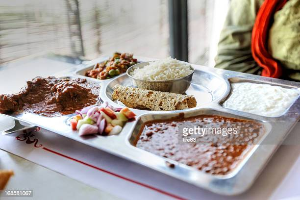 Typical indian thali lunch