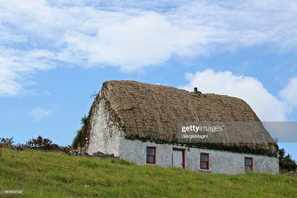 Typical Irish Thatched Cottage, Aran Islands