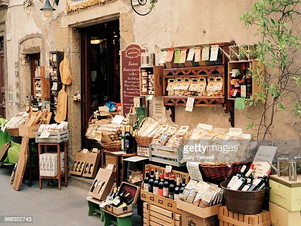 Typical Italian food shop front
