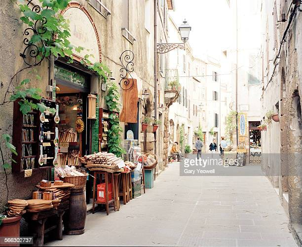 Typical Italian street with shops