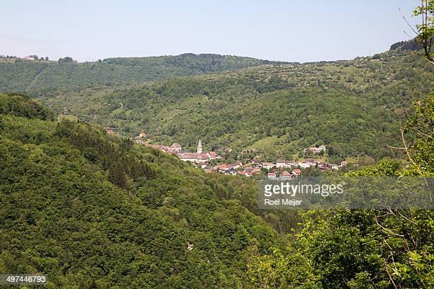 Typical landscape of Jura, Eastern-France