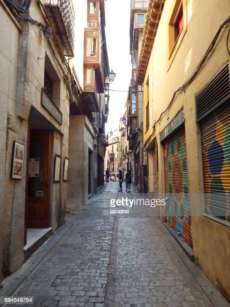 Typical narrow street of the old town of Toledo