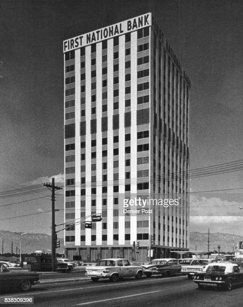 Typical of modern Albuquerque is this new building which dominates skyline Although growth has changed many sections of the city the pioneer...