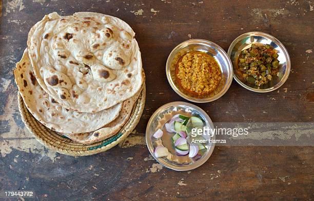 Typical Pakistani food