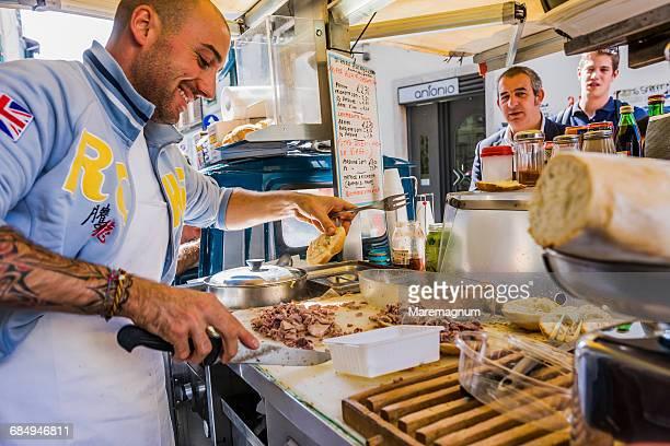Typical Panino (sandwich) al Lampredotto