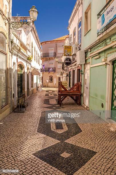 Typical Portuguese Mosaic Street Tiles, Lagos, Portugal