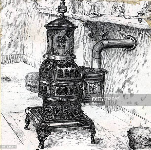 Typical potbellied stove of the victorian era