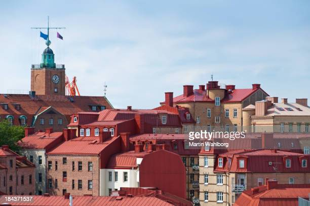 Typical roof tops of Gothenburg