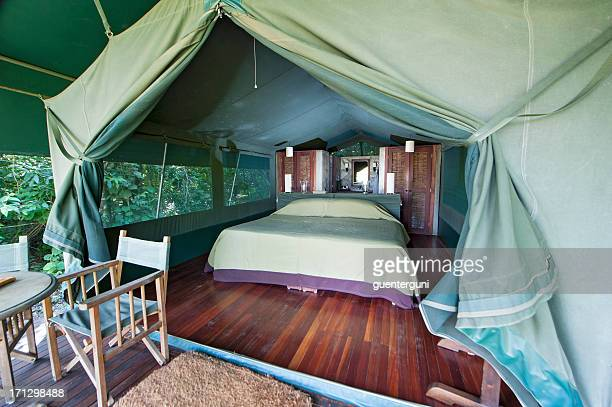 Typical Safari tent in a Luxury Tented Lodge