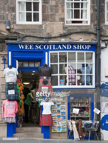 Typical souvenir shop, Edinburgh, Scotland