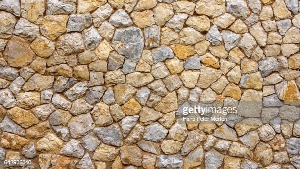 typical stone wall, Majorca, Balearic Islands, Spain