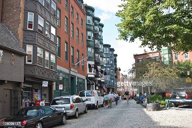 Typical street in North End, Boston, MA