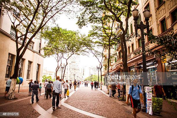 A typical street scene in Sao Paulo Brazil.