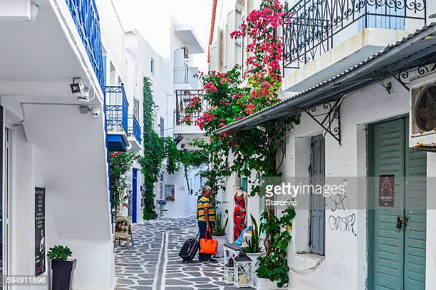 Typical street scene on the Greek Isles