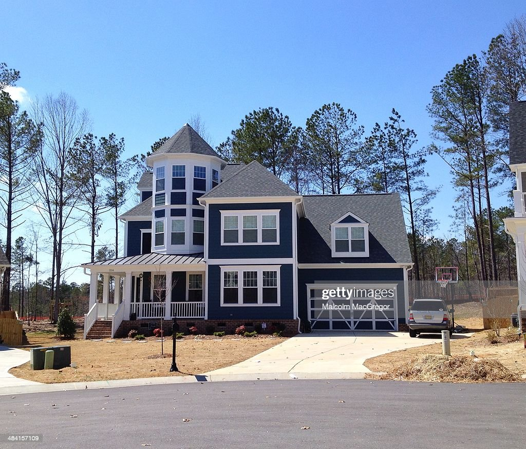 A typical suburban house in the Raleigh, North Carolina area